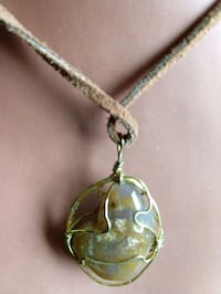 Wire wrap Agate necklace