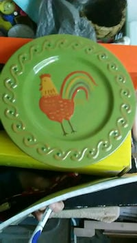 Rooster Candle Plate Tamaqua