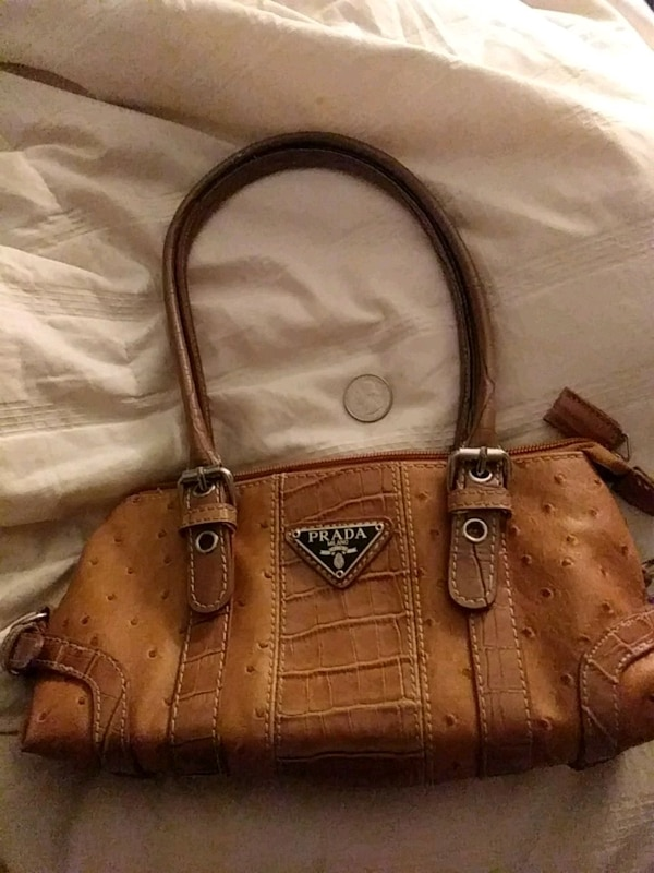 aa014f02c2b2ea Used Ostrich skin PRADA bag for sale in Columbia - letgo