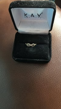 Silver-colored kay jewelers infinity ring Dothan, 36303