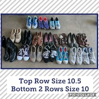 assorted athletic sneakers shoes size 10-10.5 1156 mi