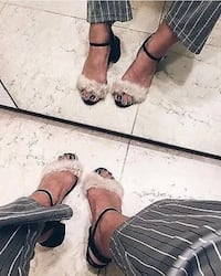 Zara Faux Fur Sandals Mississauga, L5B 1P2