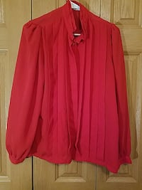 Women's red button-up blouse (L) Seattle, 98166