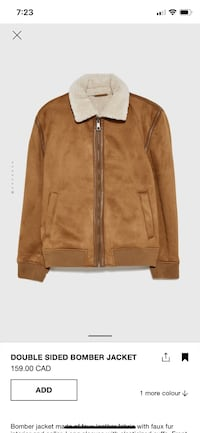 Zara Double Sided Bomber Jacket Mississauga, L5M 7Y2