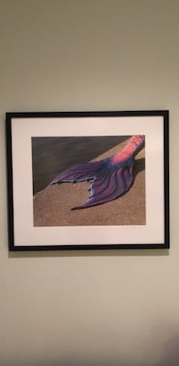 purple and black bird painting with black wooden frame Dunn Loring, 22027