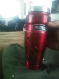 red and grey insulated tumbler