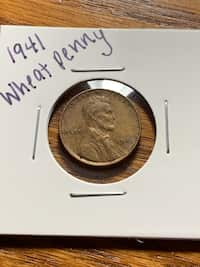 Used 1954 D wheat penny multiple errors for sale in