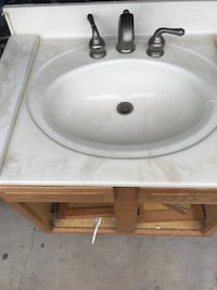 Bathroom sink with cabinet 30'