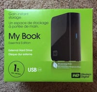 Unopened 1 Terabyte External Hard Drive Imperial, 15126