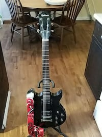 black Hohner electric guitar TB1 Solid body
