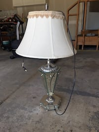 stainless steel base white shade table lamp Shelby Township, 48317