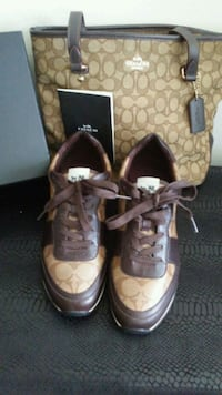 pair of brown Coach low top sneakers Middletown, 10940