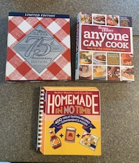 Set of three Better homes and Gardens large binder cookbooks. $8.00
