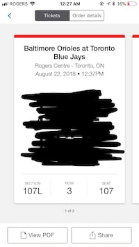 Cheap jays tickets August 22, will email tickets to buyer