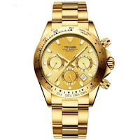 Brand new shiny watch gold and green luminous water resistant turntable bezel . Henrico, 23238