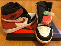 New Nike Jordan 1 Retro High Track Red Washington, 20006