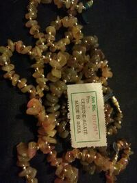 brown and beige Cenuine Agate beaded necklace