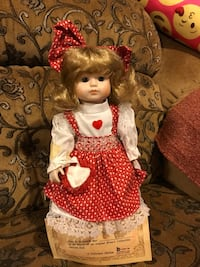 "Collector doll has certificate of authenticity Brinn's Doll made in 1988 Just taken out of box for photos in great condition 16""  Fresno, 93722"