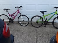 pair like new 24in huffy mountain bikes super clean Warren, 48089