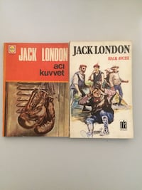 iki tane Jack London kitabı