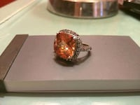 Sterling Silver crystal and topaz cocktail ring Mississauga, L5E 1G8