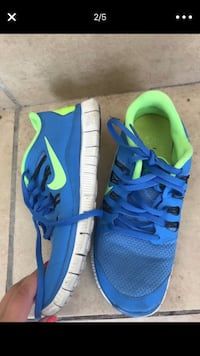 pair of blue-and-green Nike running shoes San Diego, 92154