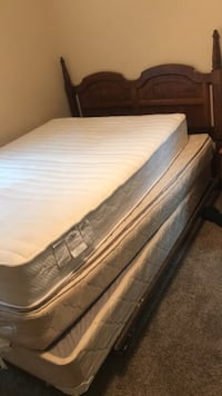 2 mattresses and a frame and box spring and head board Augusta, 30909