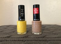 two yellow and brown Colorstay nail polishes
