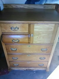 brown wooden tallboy dresser Baltimore, 43105