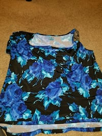 black and blue floral sleeveless top Germantown, 20874