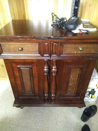 brown wooden cabinet with drawer DETROIT