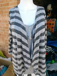 black and gray striped cardigan Albuquerque, 87123