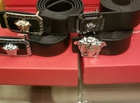four black leather Versace belts Montréal, H8Z 3K8