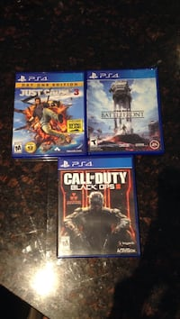 Just cause 3, star wars battlefront and call of duty black ops 3 ps4 game cases Scituate, 02857