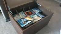 DVDs with storage box