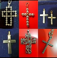 Black onyx cross with a crystal Mississauga