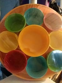 six assorted color ceramic bowls North Highlands, 95660