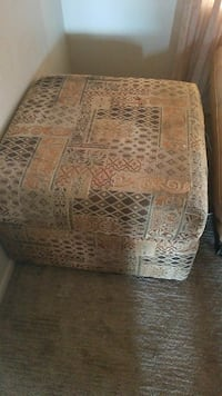 square brown and beige ottoman