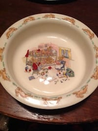VINTAGE ROYAL DOULTON BUNNYKINS LIPPED CEREAL BOWL  BEDTIME STORY Toronto, M5A 2P4