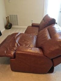 Brown genuine leather reclining sofa couch Chesapeake, 23323