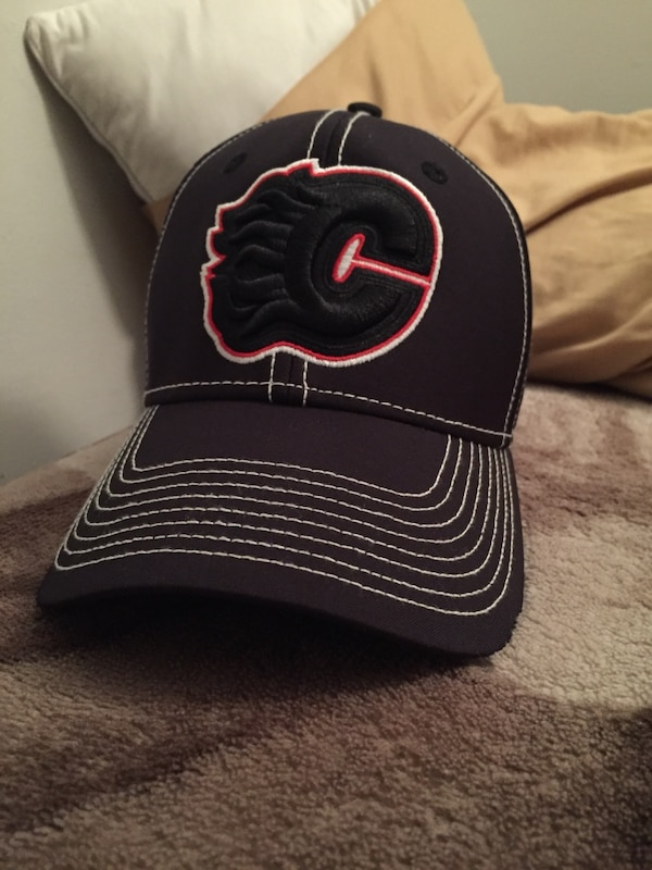 Used black and red Calgary Flames cap for sale in Red Deer - letgo 4e9376e553c4