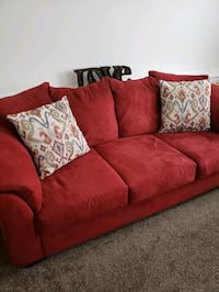 Red microfiber Sofa and Loveseat  Severn, 21144