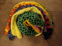 Large Lot of 7 Plush Snakes