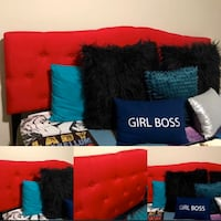 NEW!l Red Tuffed Upholstered KING SIZE Headboard