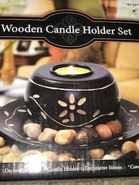 Wooden candle holder/Firm price