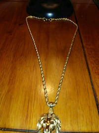 Gold filled rope chain l,lion charm with diamond i Philadelphia, 19137