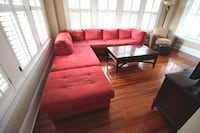 Microfiber Sectional Couch with Ottoman Tampa