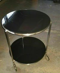 Stainless Steel and glass table Kitchener