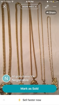 five gold chain necklaces screenshot