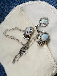 Silver with Opals